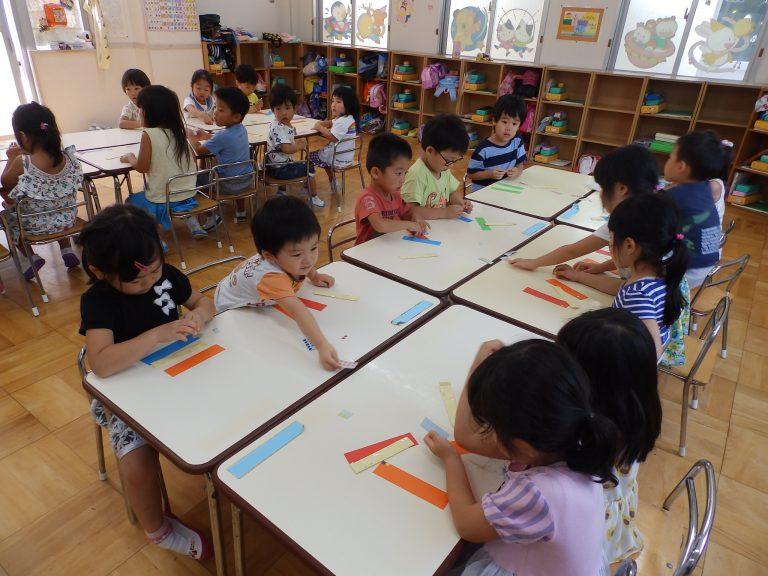 ホームクラスの様子 ⑭ 年中・年少組