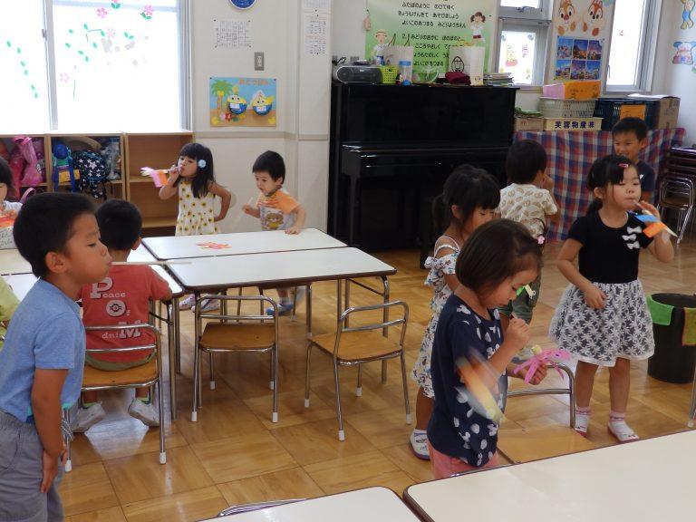 ホームクラスの様子 ⑮ 年中・年少組