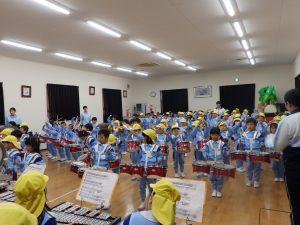 鼓笛指導 ① ゆり・ひまわり組