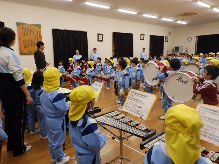 鼓笛指導 ③ ゆり・ひまわり組
