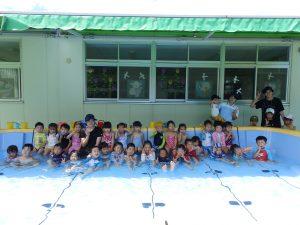 水遊び ① 年中・年少組