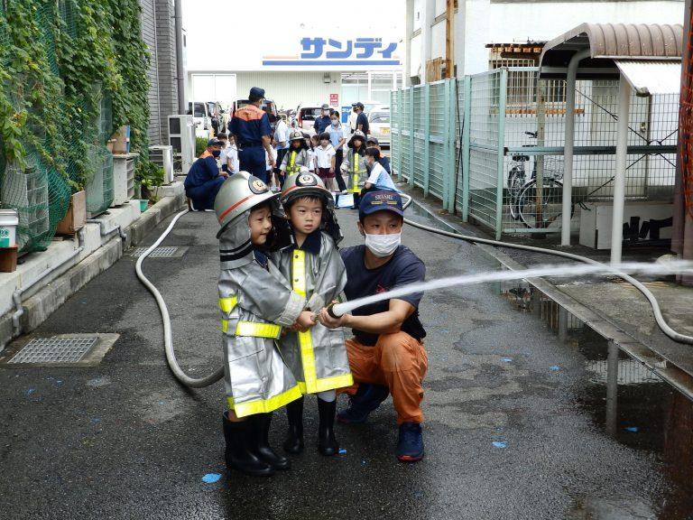消防署見学 23 ひまわり組
