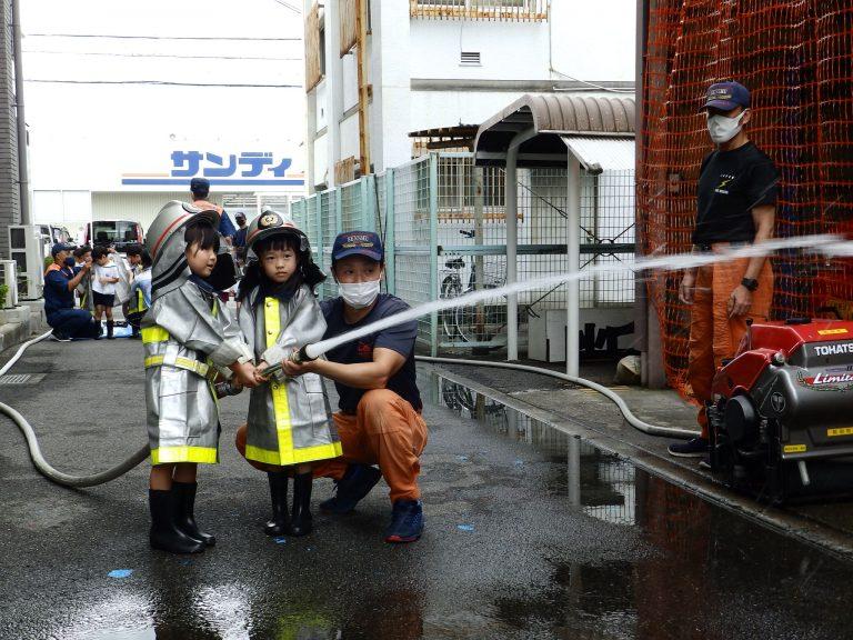消防署見学 24 ひまわり組