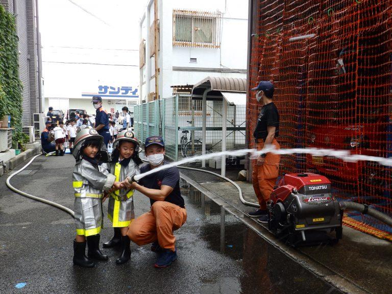 消防署見学 25 ひまわり組