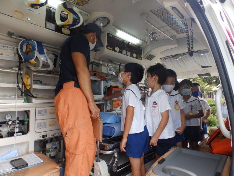 消防署見学 28 ひまわり組