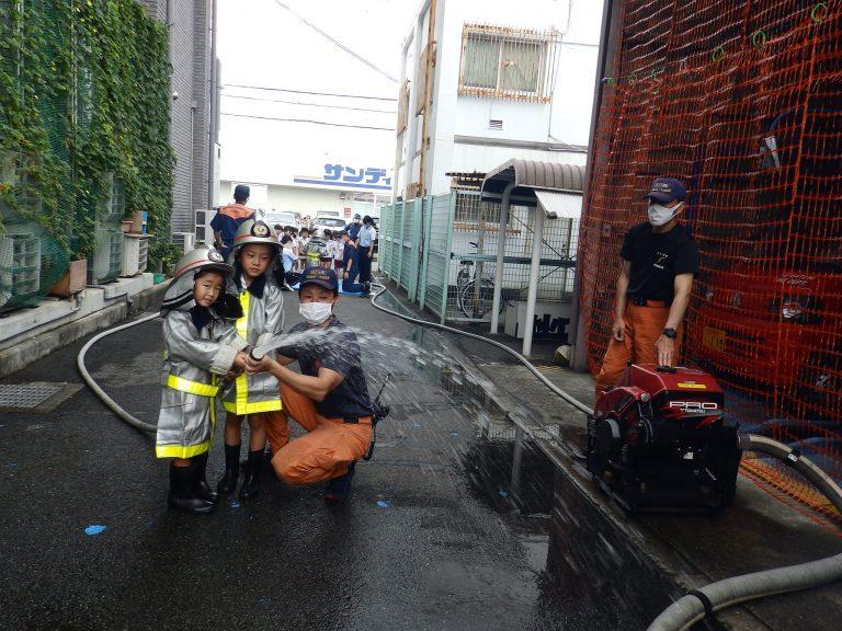 消防署見学 ⑥ れんげ組