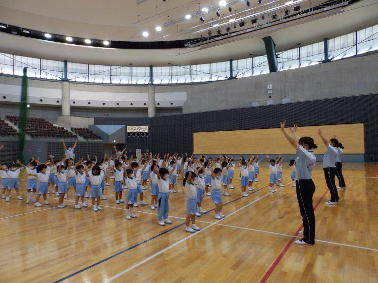 運動会予行練習 ③ 年中・年少組